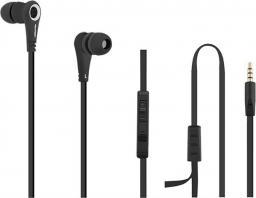 Słuchawki Qoltec Premium Sportowe Douszne z Mikrofonem Czarne  (50807)