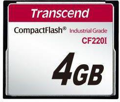 Karta pamięci Transcend CompactFlash przemysłowa 4GB (TS4GCF220I)