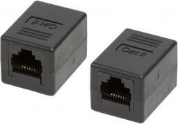 LogiLink Złączka RJ45- RJ45 żeńsko/żeńska kat.6 UTP, czarna (NP0034A)