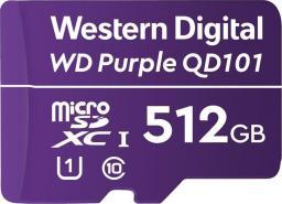 Karta Western Digital Purple MicroSDXC 512 GB Class 10 UHS-I/U1  (WDD512G1P0C)
