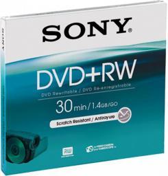 Sony DVD+RW, 1.4 GB, 8 cm, Jewel Case (DPW30A)