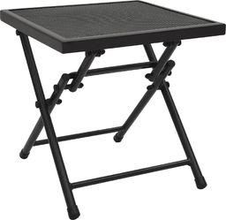 vidaXL Składany stolik z siatką, 38x38x38 cm, stalowy, antracytowy