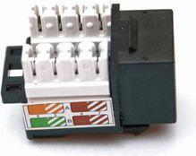 KeyStone Gniazdo Cat6, UTP, typ 110, czarne (KEY-UTP-C6-BKV2)