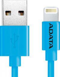 Kabel USB ADATA Lightning, certyfikat MFI, 1m, Niebieski (AMFIPL-100CM-CBL)