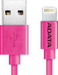Kabel USB ADATA Lightning, certyfikat MFI, 1m, Różowy (AMFIPL-100CM-CPK)