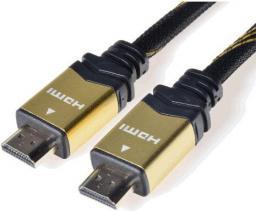 Kabel PremiumCord HDMI - HDMI, 2, Czarny Złoty (kphdmet2)