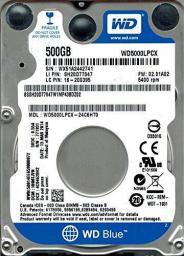 """Dysk Western Digital Blue 500 GB 2.5"""" SATA III (WD5000LPCX)"""