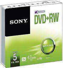 Sony DVD+RW 4x 4.7GB 5 sztuk (5DPW47SS)