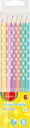 Keyroad Kredki Ołówkowe Keyroad, Trójkątne, Pastel, 6Szt., Zawieszka, Mix Kolorów