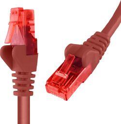 Spacetronik Kabel RJ45 CAT 6 U/UTP AWG24 czerwony 0,5m