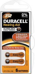 Duracell Bateria  do aparatów słuchowych, Zinc Air Hearing, Aid 312,  1.4V (0000096077573)