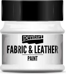 PENTART Farba do tkanin i skór biała 50 ml
