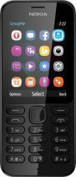 Telefon komórkowy Nokia 222 Czarny (DualSIM) (A00026075)
