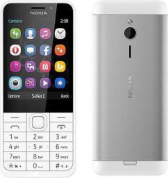 Telefon komórkowy Nokia 230 Biało-Srebrny (DualSIM)