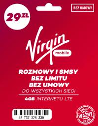 Starter Virgin Mobile z pakietem #bezlimitu + 4GB internetu