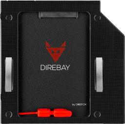 Kieszeń DIREFOX na drugi dysk do laptopa HDD/SSD 9.5 mm 2HDD (DIREBAY)