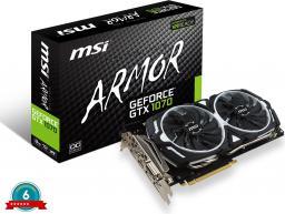 Karta graficzna MSI GeForce GTX 1070 ARMOR 8GB GDDR5 256 Bit HDMI, DVI-D, 3xDP, BOX (GTX 1070 ARMOR 8GB)