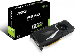 Karta graficzna MSI GeForce GTX 1070 AERO OC 8GB GDDR5 (256 bit) 3x DP, HDMI, DVI-D, BOX (V330-011R)