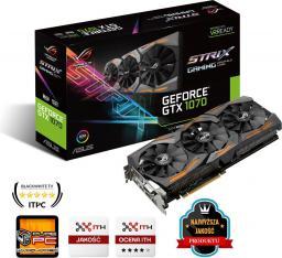 Karta graficzna Asus GeForce GTX1070 8GB GDDR5 (256 bit) DVI, 2x HDMI, 2x DP, BOX (STRIX-GTX1070-8G-GAMING)