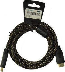 Kabel Libox HDMI - HDMI 5m złoty (LB0046)