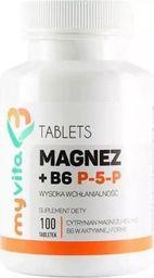Proness Magnez cytrynian magnezu + B6 P-5-P w aktywnej formie 100 tabletek MyVita