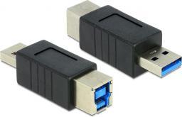 Adapter USB Delock USB A - USB B Czarny (65218)