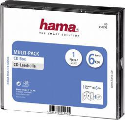 Hama Pudełko Na Płyty CD/DVD Multi-Pack, 6 szt. (00051292)