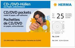 Hama Koperty Na Płyty CD/DVD, 25 szt. Biały (1144)