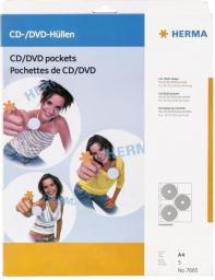 Hama Kieszeń Na Płyty CD/DVD, 5 szt. (7685)