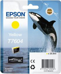 Epson Tusz T7604 Yellow UltraChrome HD (C13T76044010)