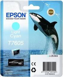 Epson Tusz T7605 Light Cyan UltraChrome HD (C13T76054010)