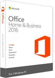 Microsoft Office 2016 dla Użytkowników Domowych i Małych Firm EN 32/64-bit Medialess (T5D-02374)