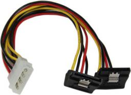 StarTech Adapter Molex - 2x SATA, wtyk kątowy (PYO2LP4LSATR)