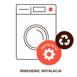 Wniesienie i instalacja (odblokowanie pralki, wypoziomowanie, podłączenie do instalacji wodnej i elektrycznej, recykling)