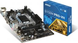 Płyta główna MSI B150M PRO-VH, B150, DDR4, SATA 3, USB 3.1, mATX (B150M PRO-VH)