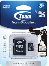 Karta Team Group MicroSDHC 8 GB Class 10  (TUSDH8GCL1003)