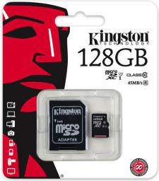Karta MicroSD Kingston Kingston 128GB (SDC10G2/128GB)