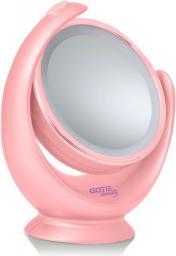 Lusterko kosmetyczne GOTIE Lusterko z podświetleniem LED GOTIE, różowe (GMR-318R)