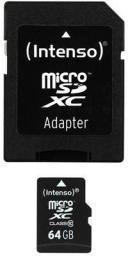 Karta Intenso MicroSDXC 64 GB Class 10  (3413490)