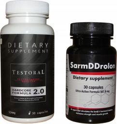 Sarm DDrolon + Testoral 2 pak na masę i siłę