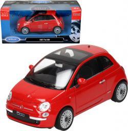 Welly Fiat 500 2007, czerwony - WE22514