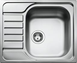 Teka Zlewozmywak 1-komorowy E 50 MTX z ociekaczem 58 x 58cm stalowy (30000061)