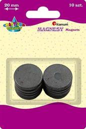 Titanum Magnesy okrągłe, średnica 20 mm, 10szt, CRAFT-FUN