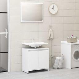vidaXL Zestaw mebli łazienkowych biały płyta wiórowa