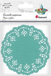 Titanum Serwetki papierowe okrągłe 11,5cm morskie 35szt