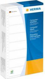 Herma Komputerowe etykiety, 1-track, 147,32 x 99,2 mm, żółty, perforowany papier matowy 1000 sztuk (8073)