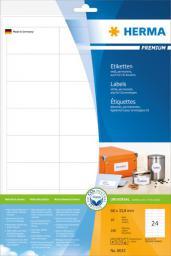 Herma Etykiety Premium 8633, A4, białe, 66 x 33,8 mm, papier matowy, 240 szt. (8633)