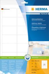 Herma Etykiety Premium 8632, A4, adresowe, białe, 63.5 x 38.1 mm, papier matowy, 210 szt (8632)