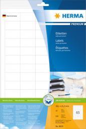Herma Etykiety Premium 8629, A4, białe, 38,1 x 21,2 mm, papier matowy, 650 szt. (8629)