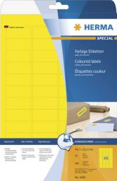 Herma Etykiety kolorowe A4, papier matowy żółty, 960 szt (4366)